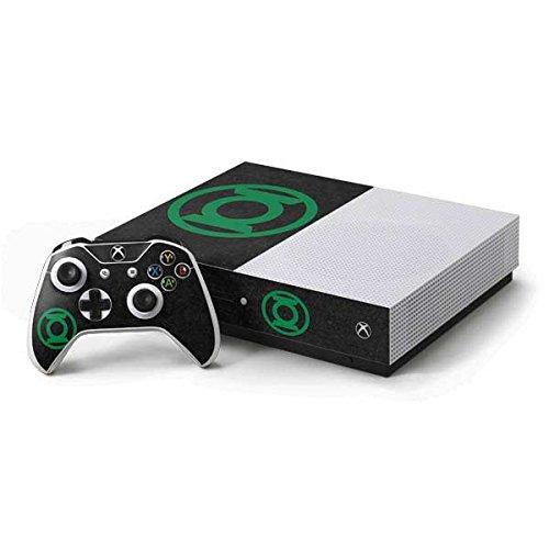Green Lantern Xbox One S Console and Controller Bundle Skin - Green Lantern Logo Black | DC Comics X Skinit Skin (Green Lantern Video Game Xbox)
