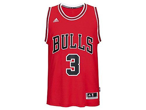 OuterStuff Dwyane Wade #3 Chicago Bulls Adidas Youth Red Swingman Jersey (Youth Medium 10/12) (Jersey Star Swingman)