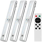 LED Under Cabinet Light with Remote Control, Dimmable Closet Light Battery Operated, LED Night Light with Magnetic Strip for Closet Hallway Kitchen Bedroom