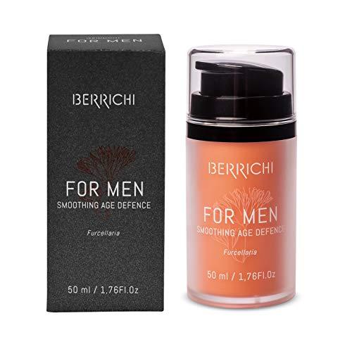 Anti Aging Creme für Herren - Innovative & Natürliche Antifalten Gesichtscreme für Männer | Berrichi Schwarz | Innovative Feuchtigkeitscreme mit Astaxanthin & 5 Super Ölen | Ideal nach der Rasur