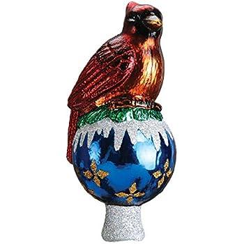 Amazon.com: Old World Christmas Cardinal Tree Top Glass