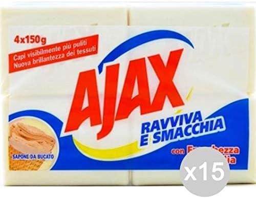 Ajax Set 15 jabón X 4 detergente Lavadora y Ropa, Multicolor ...
