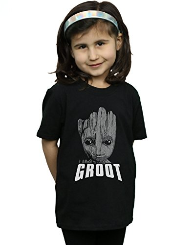 The Groot Of Galaxy shirt Fille Marvel Noir T Guardians Face xqAw4H