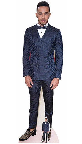 - Star Cutouts Life Size Cut Out with Mini Version of Lewis Hamilton Red Carpet, Cardboard, Multi-Colour, 174 x 54 x 174 cm