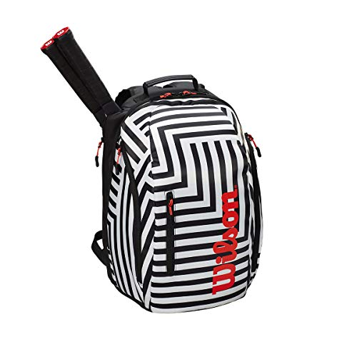 (Wilson Super Tour Bold Tennis Backpack (Black/White))