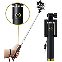 Britenova Selfie Stick With Wire/AUX Cable (No Bluetooth Or Battery) For All Smartphones