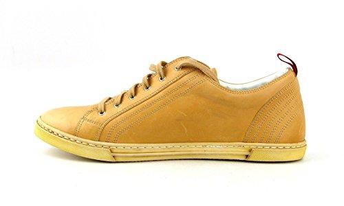 Kiton Håndlagde Joggesko Sko Gul 100% Skinn Størrelse 8 Made In Italy 41 Eu