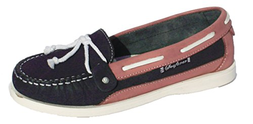 Nubuck Leather Sizes 8 Boat 4 Seafarer Navy Pink Yachtsman Deck Shoes Ladies Oq6Uc