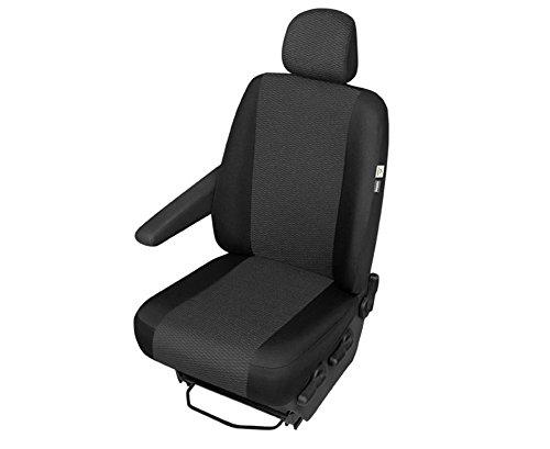 p/üitshop24 FIAT Talento Einzelsitzbezug Sitzschoner Sitzbezug Stoff in schwarz