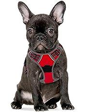 Eagloo Hondenharnas voor grote honden, anti-trein, harnas, geen pull, veiligheidsharnas, kleine middelgrote honden, borstharnas, zacht gevoerd, ademend