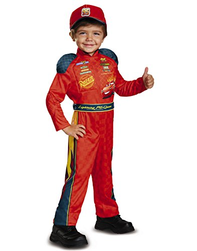 Disney Car Costume Toddlers (Cars 3 Lightning Mcqueen Classic Toddler Costume, Red, Medium (3T-4T))