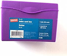 Index card files business card files amazon office staples 3quot x 5quot index card colourmoves