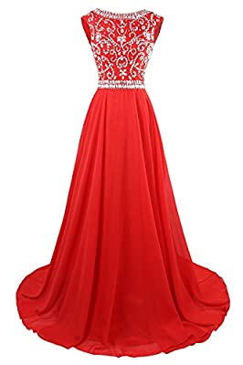 MsJune Long Prom Dresses Cap Sleeves Bridesmaid Wedding Guest Gowns Beaded 2017