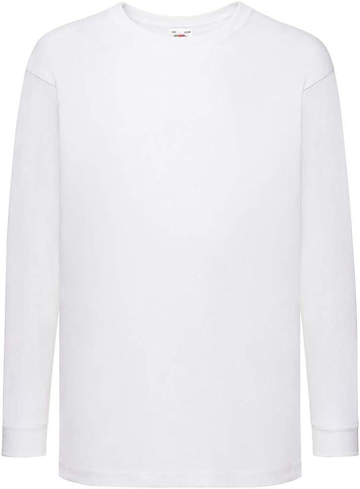 Fille Uni Haut Manches Longues Enfants Ras de Cou Haut T-Shirt 2-13 An