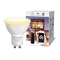 LE LampUX GU10 WiFi Smart Light Bulb Compatible with Alexa, Google Assistant, IFTTT, 2.4G WiFi, Tunable White Soft to Daylight, Timer, 50W Halogen Replacement Dimmable LED Bulb, No Hub Required