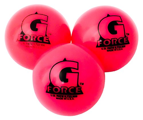 Mylec Cool Weather Liquid Filled G-Force Hockey Balls, (Pack of 3) PINK