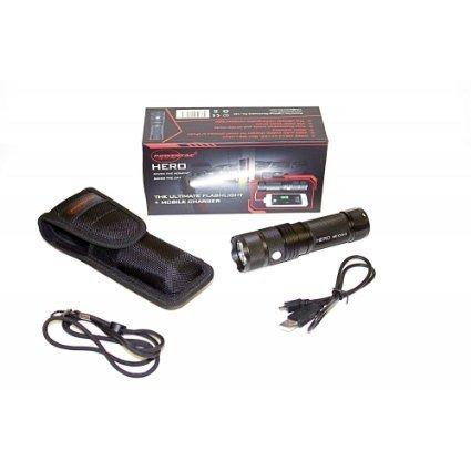 POWERTAC HERO 960-Lumen Hero LED Flashlight/Mobile Charger by PowerTac