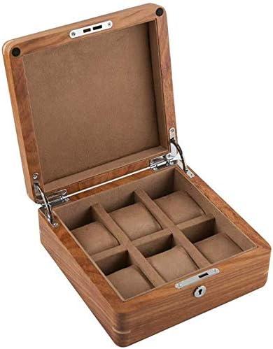 Cajas para relojes Mujer Hombre Joyería Caja de Reloj Caja de Reloj de Ranuras de Madera Colección del Organizador del Caso Holder Caja de Joyería HUYP (Color : Beige): Amazon.es: Hogar