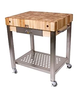 Kitchen Butchers Block With Drawers : Amazon.com - John Boos Cucina Americana Technica Kitchen Cart with Butcher Block Top Counter Top ...
