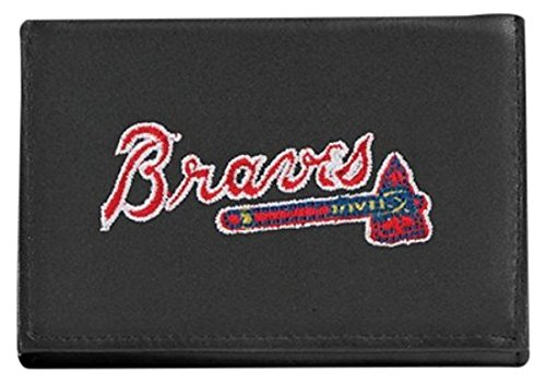 MLB Atlanta Braves Embroidered Genuine Cowhide Leather Trifold Wallet