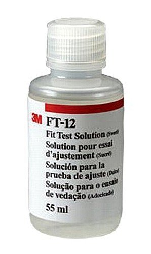 3M FT-12 55 mL Sweet Replacement Fit Test Solution For Any Particulate or Gas/Vapor Respirator (For Use With FT-10 Qualitative Fit Test Apparatus), English, 15.34 fl. oz., Plastic, 1