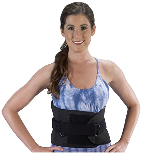 Bilt-Rite Mastex Health Lumbo Protech Deluxe Back Support, Black, Medium by Bilt-Rite Mastex Health (Image #1)