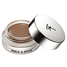 it Cosmetics Build-A-Brow Waterproof 5-in 1 Micro Fiber Creme Gel Stain And Brush (Universal Taupe)