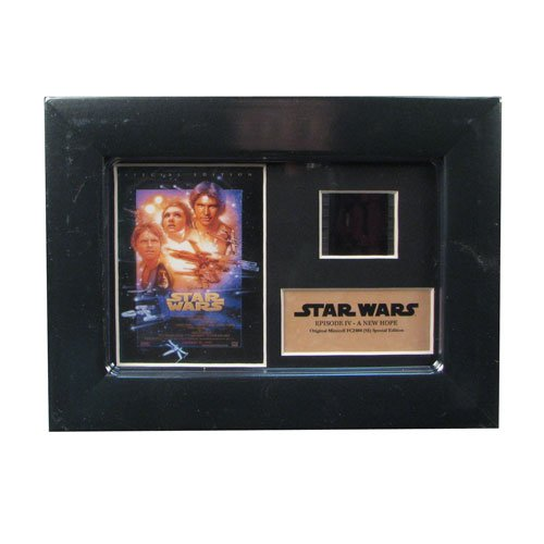 FilmCells Star Wars Episode IV A New Hope Authentic 35mm Film Cell Special Edition Display, Black, 7x5