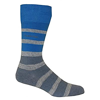 Calvin Klein Reverse Jersey Bar Stripe Men's Socks, Blue/Grey