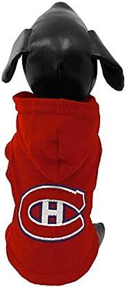 All Star Dog NHL Montreal Canadiens Cotton Hooded Dog Shirt, Medium