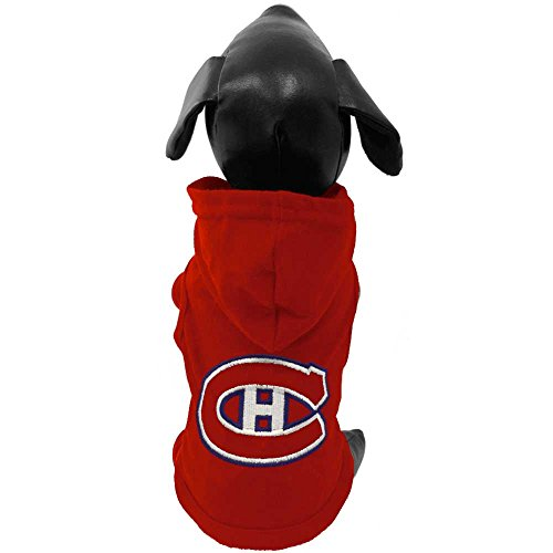 (All Star Dogs NHL Montreal Canadiens Cotton Hooded Dog Shirt, Medium, Red)