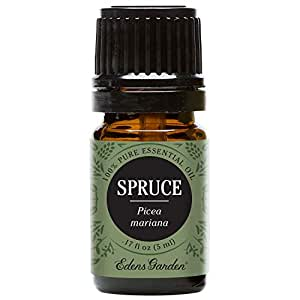 Edens Garden Spruce Essential Oil, 100% Pure Therapeutic Grade (Congestion & Pain) 5 ml