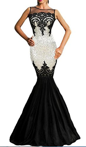 sunifsnow Mujer Elegante Diseño con lentejuelas noche Party ankle-length vestido de sirena blanco