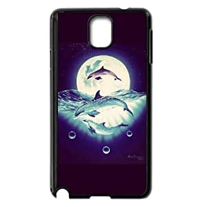 High Quality {YUXUAN-LARA CASE}Sea And Dolphins For Samsung Galaxy NOTE4 STYLE-8