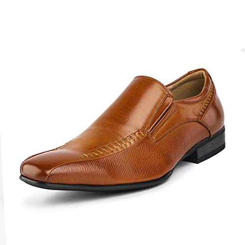 Bruno Marc Men's Brown Slip On Dress Loafers Shoes - 13 M US Gordon-02