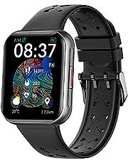 Smartwatch Sport, IP68 Waterdicht, Dames en Herensmartwatches voor Android IOS, Fitnesshorloge met Hartslagmeter, Slaapmonitor, Activity Tracker, Muziekbediening, Stopwatch