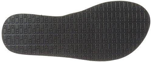 Sanuk Women's Yoga Chakra Flip Flop, Black, 6 M US by Sanuk (Image #3)