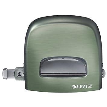 Guida di arresto con sistema di fissaggio Blu Titanio Leitz Perforatore per ufficio Style NeXXt 30 fogli 50066069 Metallo