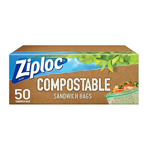 Ziploc Compostable Sandwich Bags, Seal Top, 50 Bags