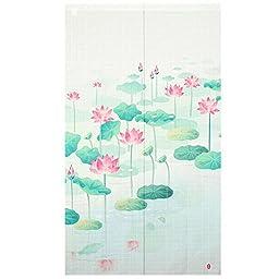 Xiaopangzi Thin Polyester Oriental Flower Style Doorway Curtain 80 x 150cm (Lotus)