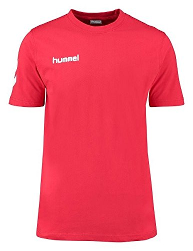 (Hummel Mens Core Cotton T-Shirt White/Black XL)