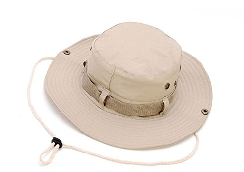 Keross Wide Brim Sun Boonie Hat Summer Bucket Caps Perfect for Camping Fishing Safari Hiking Outdoor Activity UV Protection(Khaki)