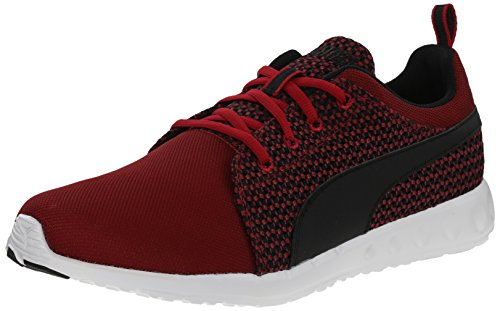 PUMA Men's Carson Runner Knit Lace-Up Fashion Sneaker, Scooter/Black, 13 M US
