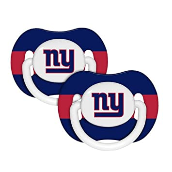 Amazon.com: NFL – New York Giants Chupete 2-Pack: Baby