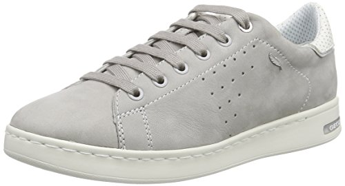 Geox D Jaysen A Womens Leather Trainers / Shoes - Grey Grey