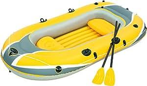 "Bestway Schlauchboot Boot 255x127cm ""hydro-force Raft Set"" Naviga Mit Blasebalg Und 2 Paddeln - Barca Hinchable Hyro-Force Raft Naviga"