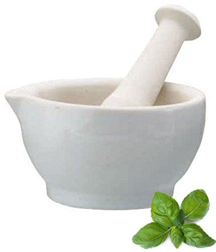 Mörser mit Stößel Keramik Ausführung für Kräuterpasten und Pesto , iapyx®