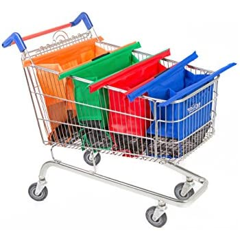 Amazon.com: Reusable Grocery Bags and shopping Cart Bags (4 ...