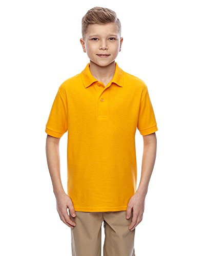 (JZ EASYCARE YOUTH SPORT SHIRT, GOLD, XS)