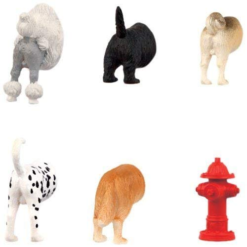 Hoovy Adorable Dog Butt Refrigerator Door Magnets | Cute & Funny Puppy Fridge Decorative Magnets For Photos, Notes & Grocery List | Sturdy & Nontoxic Vinyl | Assorted Dog-In-Fridge Magnets | 6-Pack